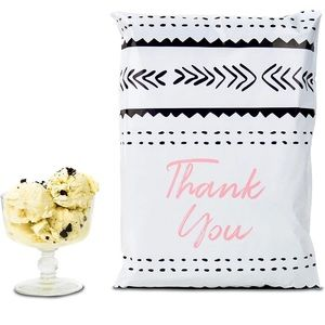 12 X 15.5 (10 Pack) Fig Pink Black Thank You